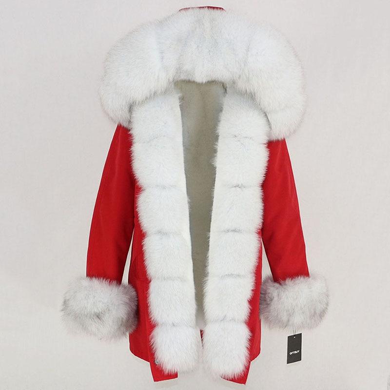 OFTBUY Waterproof Long Parka Winter Jacket Women Real Fur Coat Natural Fox Fur Collar Hood Thick Warm Streetwear Detachable New 93