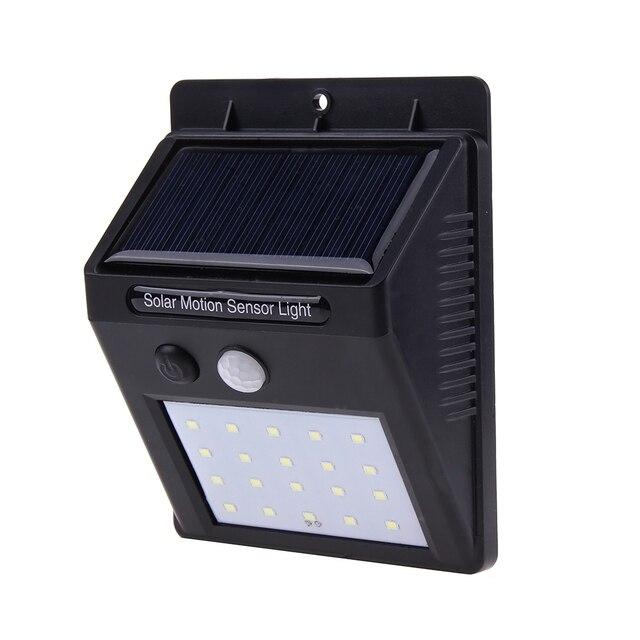 20LEDs Solar Power LED Solar Light PIR Motion Sensor Wall Solar Light Outdoor Waterproof Path Home Garden Security Lamp 20 LED