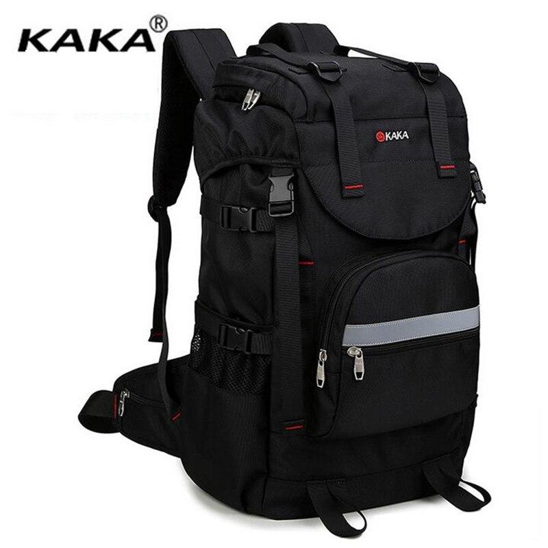 ФОТО KAKA Men Travel Backpack Black Large Capacity 17 Inch Laptop School Notebook Backpacks Oxford Waterproof Oxford Bag X480