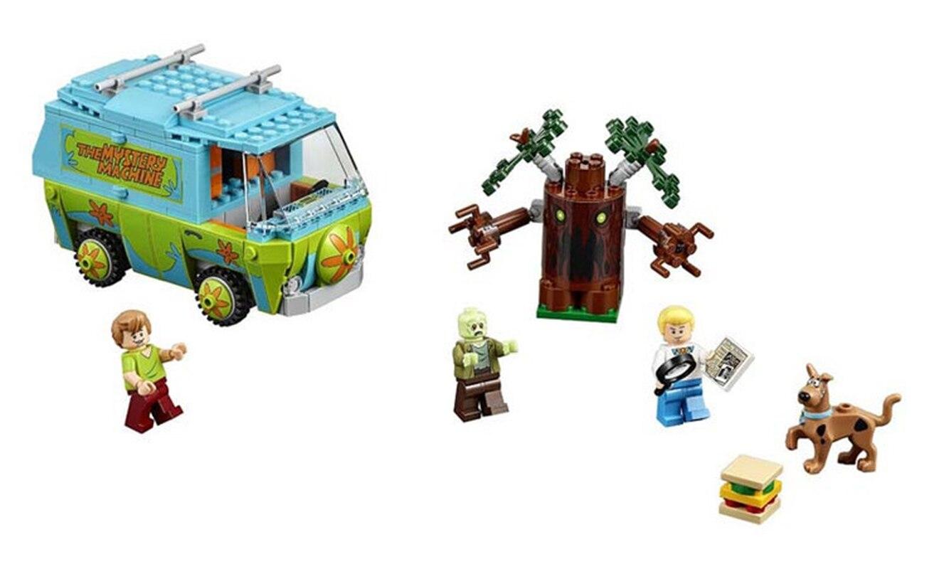 10430 Legoing Scooby Doo misterio máquina de autobús bloques de construcción de juguetes 10430 Compatible con regalos de cumpleaños Legoing