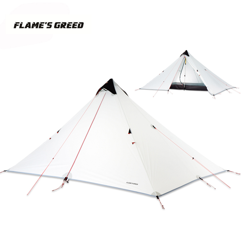 LanShan 1 Upgraded Single Person 15D Silicone Coating Rodless Double Layers Tent Waterproof Portable Ultralight Camping