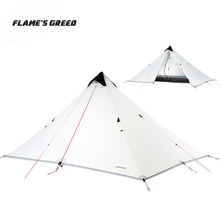 LanShan 1 Upgraded Single Person 15D Silicone Coating Rodless Double Layers Tent Waterproof Portable Ultralight Camping 3 Season