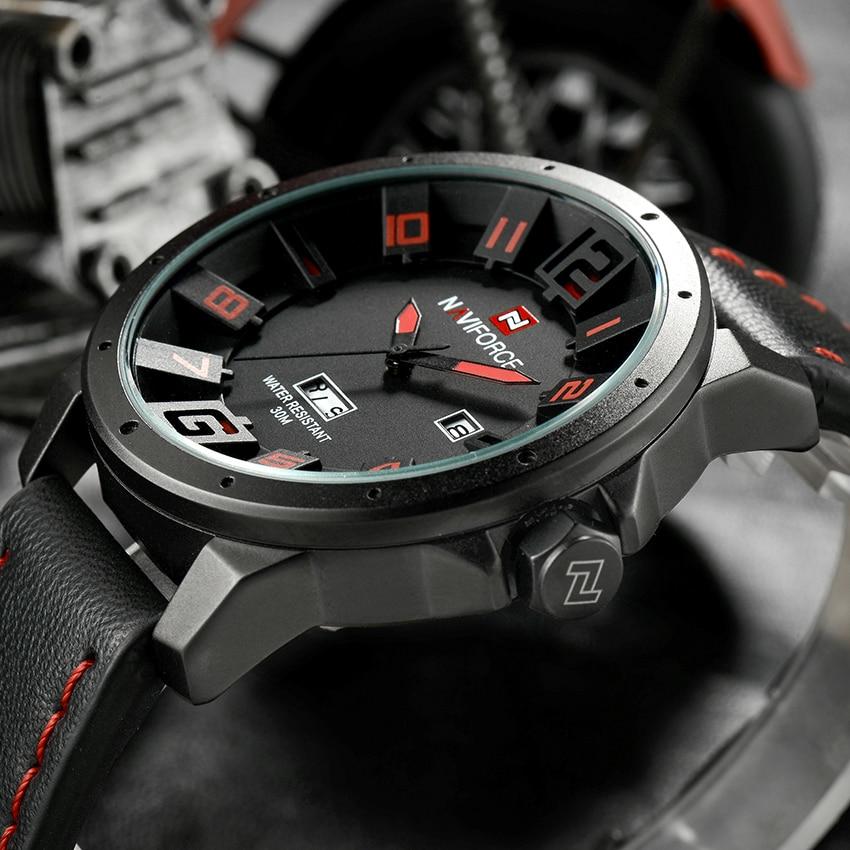 Luxury Brand NAVIFORCE Men Watch Quartz Date Military Sports Watches Men's Clock Casual Leather Wrist Watch relogio masculino 2