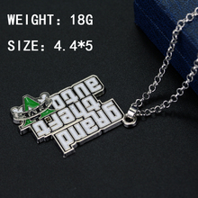 Classic Hot Game GTA Necklace Grand Theft Auto Pendant Necklace For Men Women Fans Grand Theft Auto V Pendant Gift Jewelry