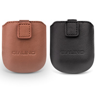 QIALINO Genuine Leather Case For Apple AirPods Fashion Simple Portable Cover Mini Pocket For Apple AirPods