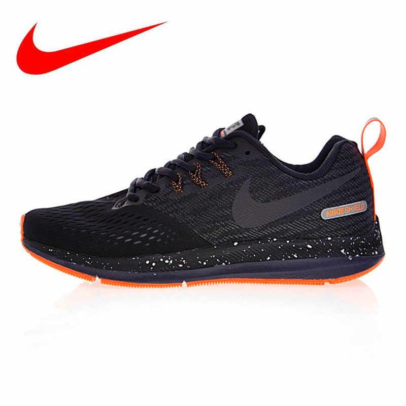 9b43afca Оригинальные мужские кроссовки NIKE ZOOM WINFLO 4 SHIELD, оригинальные  спортивные уличные кроссовки, черные,