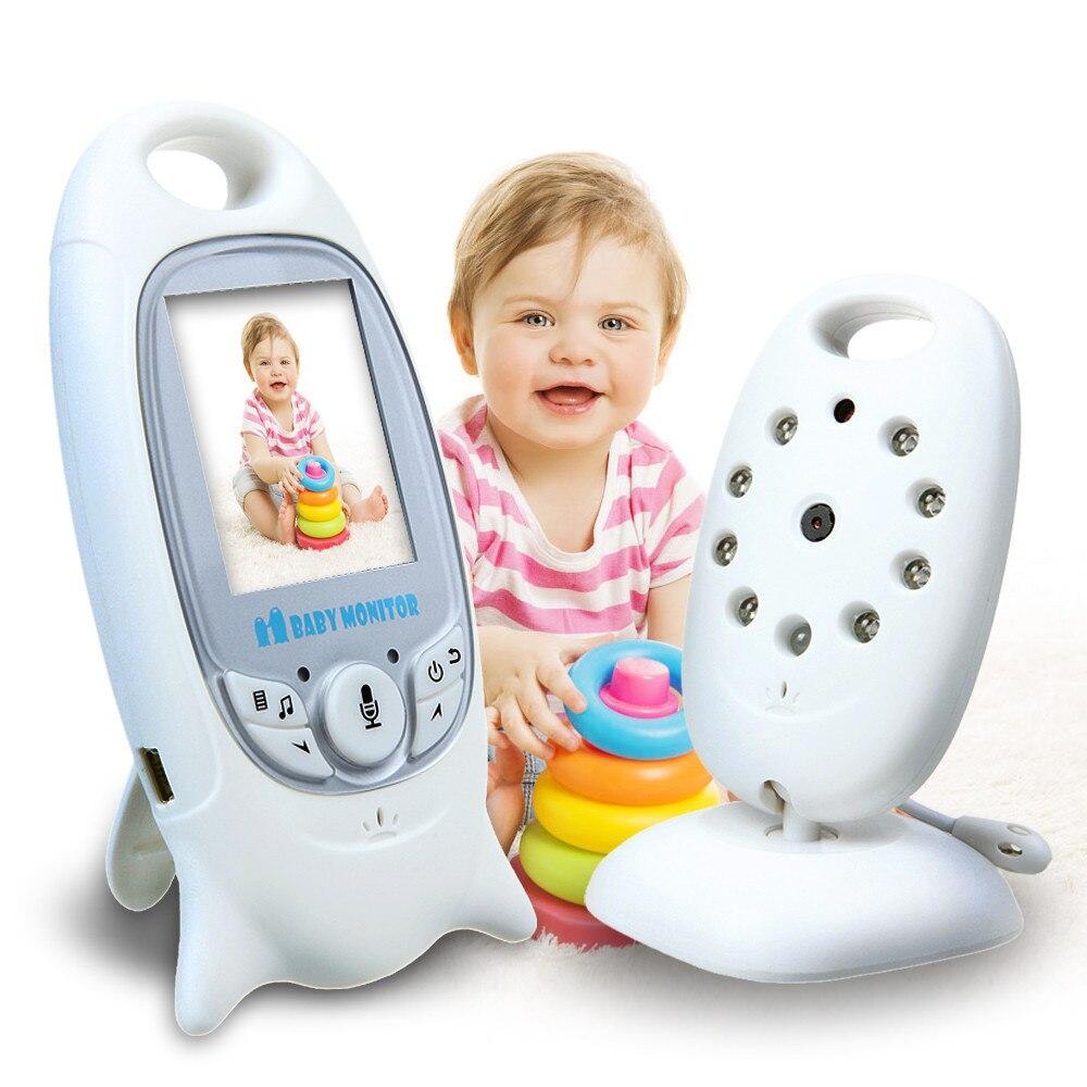 2.4G sans fil numérique bébé moniteur 2 pouces couleur affichage nuit Vision sécurité deux voies parler moniteur de température arrière nounou VB601