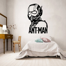 Free shipping Ant-man Removable Art Vinyl Wall Stickers Living Room Bedroom Decal
