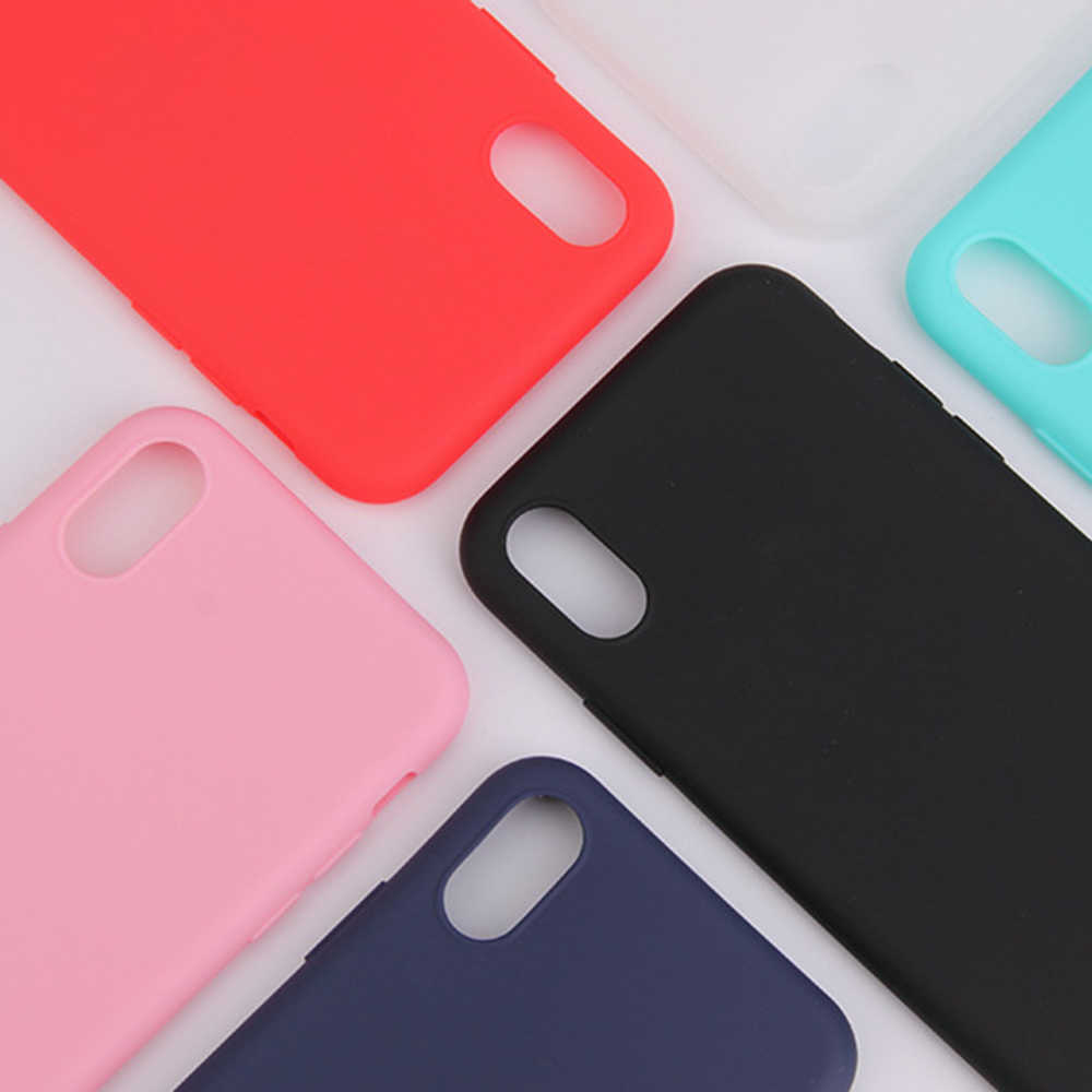 Plain Matte Silicone Soft Phone Case For iPhone 7 8 Anti-knock Case For iPhone X 6 6s Plus XR XS MAX Fundas Cover Bag Coque