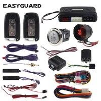 EASYGUARD компания smart key ПКЕ Автосигнализация Пассивный ЗАМКАМИ ДИСТАНЦИОННОГО стартер и кнопка старт шок предупреждающий сигнал dc12V