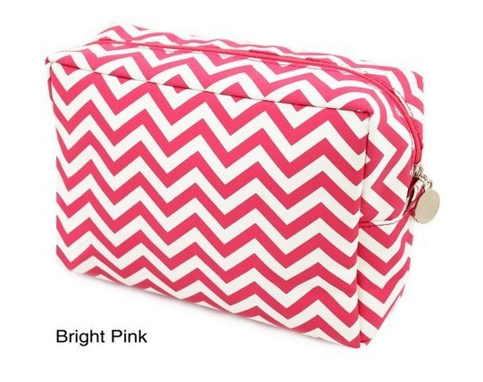 e40b1b7f0854 US $315.0 |Wholesale Blanks Chevron Cosmetic Bags Zig Zag Makeup Bag  Toiletry Bags with Various Colors with Free Shipping DOM001-in Cosmetic  Bags & ...