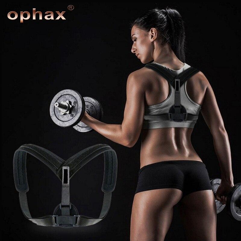 OPHAX ajustable clavícula postura Spine apoyo Slouching postura correctiva Correa correcta para el cuidado de la salud