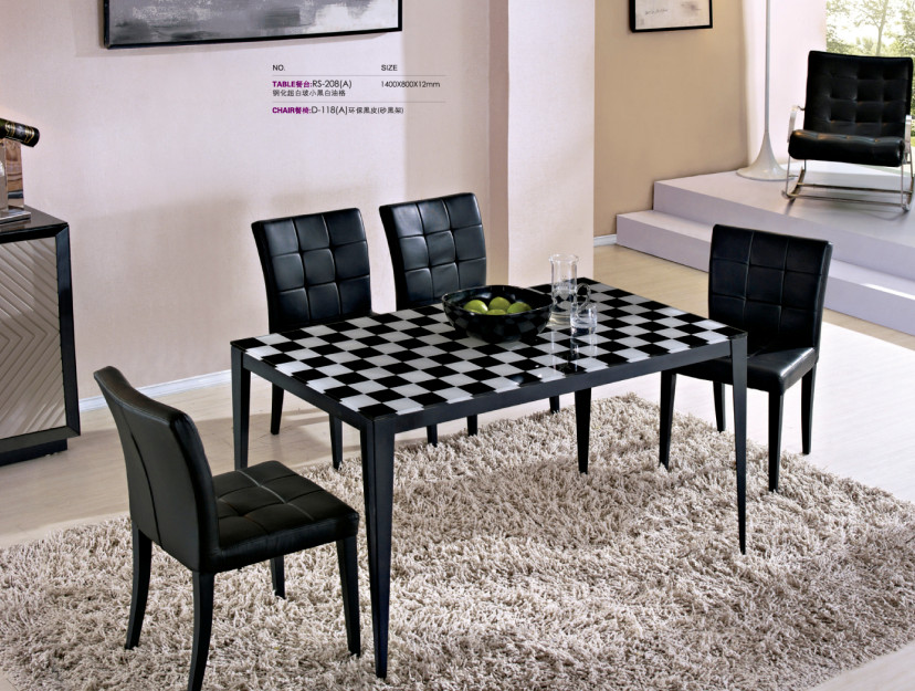 2017 Por Dining Room Table With Tempered Gl