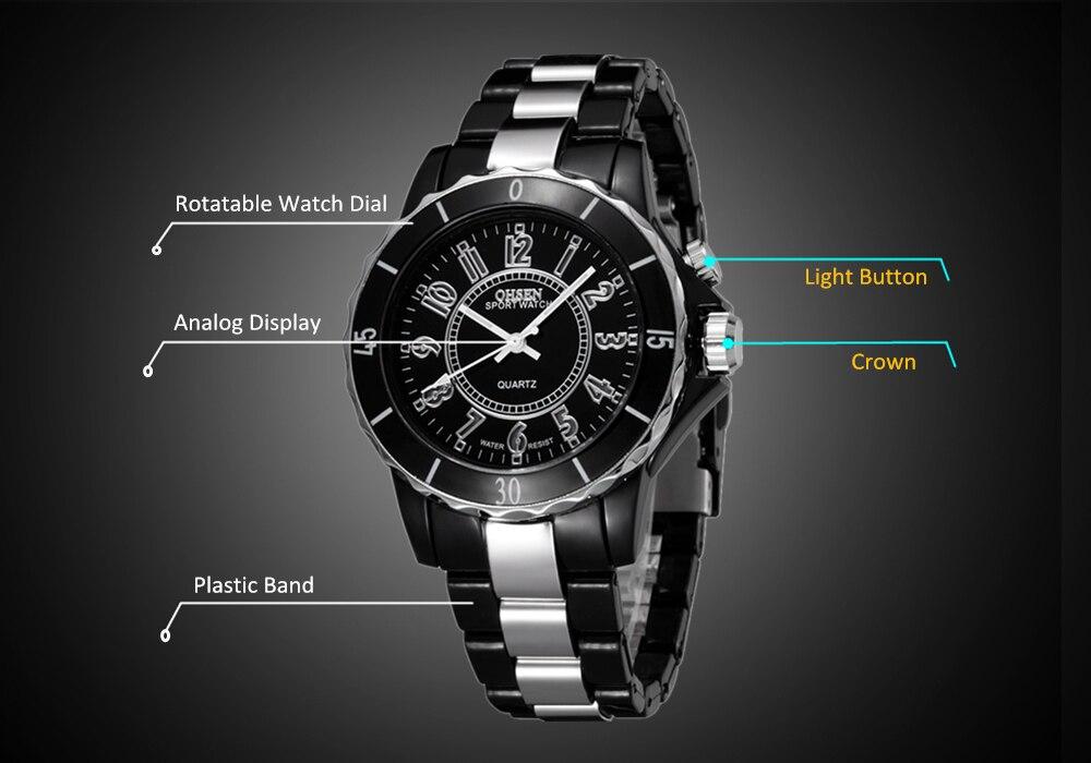 OHSEN женские роскошные водонепроницаемые кварцевые спортивные часы 7 разноцветный светодиодный светильник часы FG0736 Relogio Esportivo Feminino