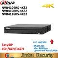 Dahua 4K P2P NVR видеорегистратор NVR4104HS-4KS2 NVR4108HS-4KS2 4CH 8CH 16CH H.265/H.264 разрешение до 8MP