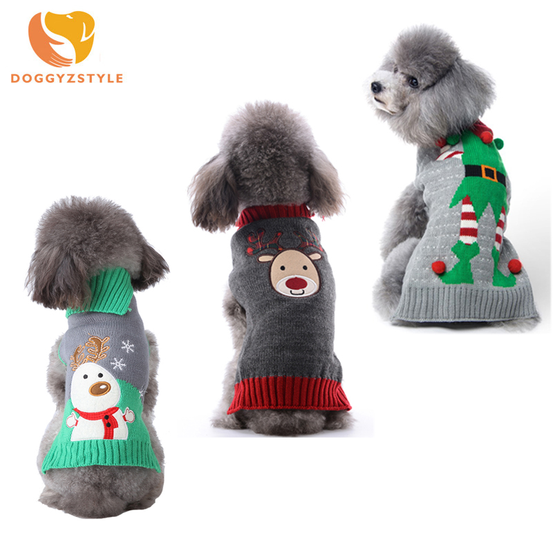 New Knit Vest Sweater For Pets Dogs Waistcoat Cat Clothes Reindeer Apparel Outfit For Small Medium Large Dogs DOGGYZSTYLE