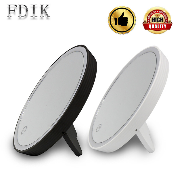 USB Rechargeable Make Up Mirror Lamp Waterproof LED Light Tabletop Lamps  Cosmetic Mirrors Desk Lights Dimmable
