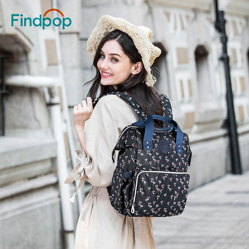 Findpop Floral Printing Backpacks Women 2018 Large Capacity Casual Backpacks Bags For Women Anti Theft Canvas Backpacks Mochilas-in Backpacks from Luggage & Bags    1