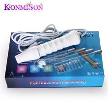 Konmison tubo de vidrio del electrodo electroterapia de alta frecuencia d'arsonval darsonval facial cuidado de la piel spa salon de belleza acné remover