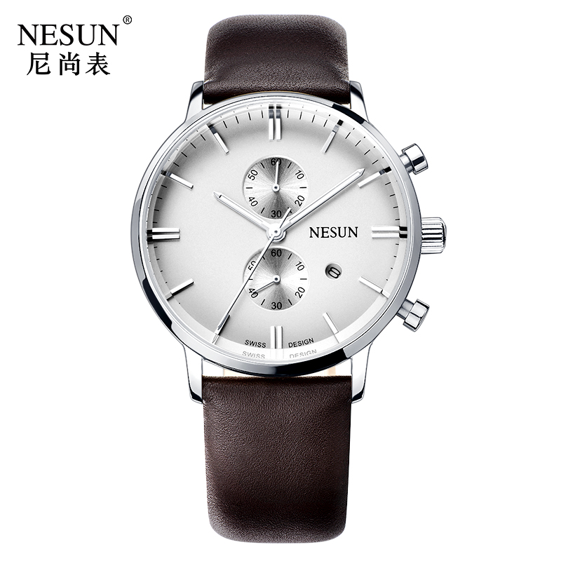 Здесь продается  Nesun New Men Watches Top Brand Luxury Citizen Quartz movement Watch Men Chronograph Wrist clock Waterproof reloj hombre N8601-1  Часы