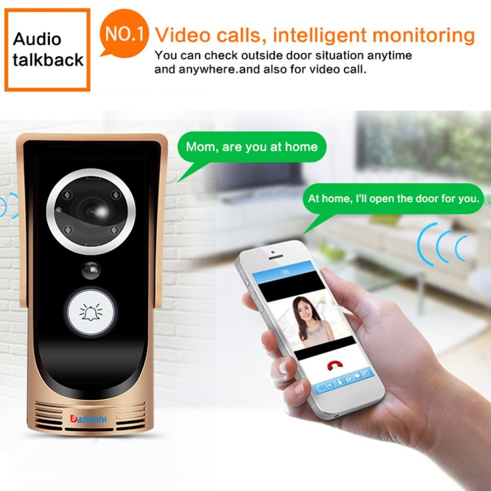 цены WiFi Smart Video Doorphone 3.0MP 720P IP Camera Wireless Video Intercom System Waterproof IOS Android APP Mobile Doorbell Camera