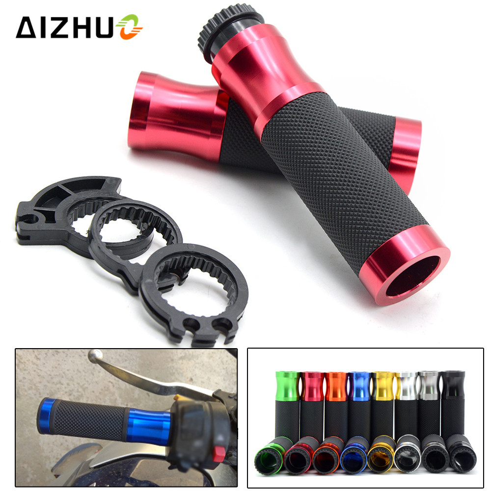 22MM Motorcycle handle grips Motorbike handlebar grips for honda cbr 600 f4i cbr 600 rr grom crf 450 cb650f cb500x ZX12R ZX6R in Grips from Automobiles Motorcycles