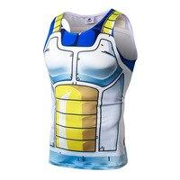 Fashion Summer Vest Men 3D Sleeveless Blouse O Neck Saiyan Goku Dragon Ball Naruto 3D Print