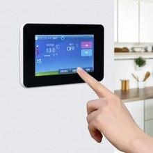 Сенсорный Термостат подогрев пола термостат регулятор температуры ЖК сенсорный экран подсветка для электрического отопления работает