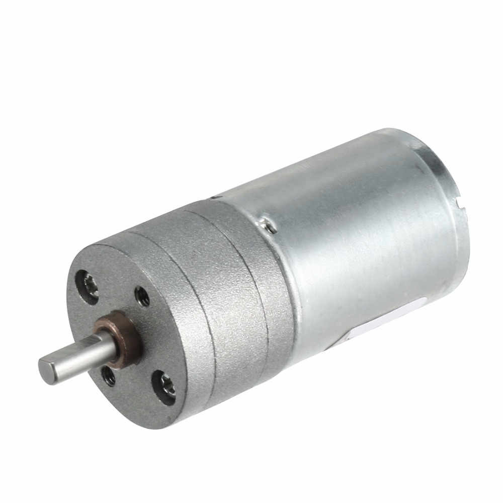 цена на UXCELL DC 12V 500RPM 4mm Dia Shaft Electric Brush Gear Box Speed Reduce Geared Motor 2 Terminals Connectors Machine Replacement
