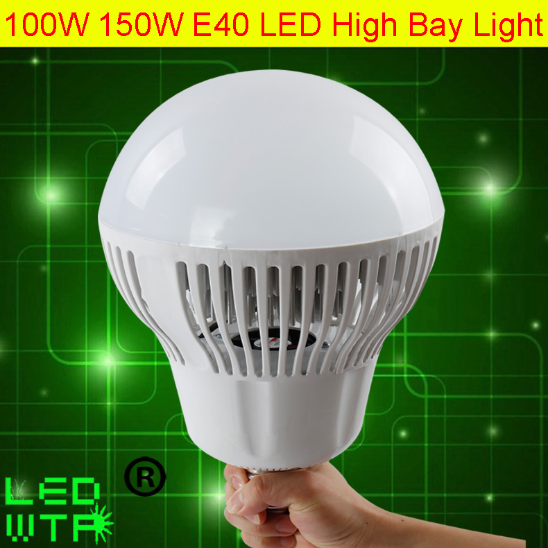 DHL Free shipping 100W high bay led lamp 110LM/W Super Brightness E40 150W LED High Bay Light 12M Illuminance highbay Warehouse
