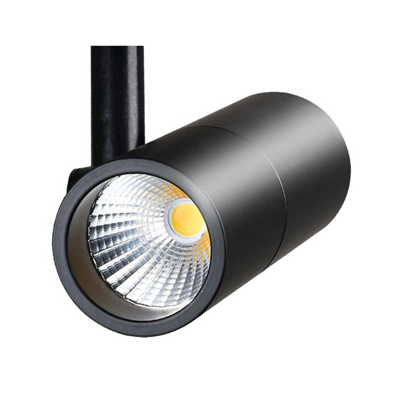 10W LED Track Light Rail Spotlight Lamp Gallery Led Shoes Clothing Store Display Window Exhibition Ceiling COB Chip Bulb Lamps led track light50wled exhibition hall cob track light to shoot the light clothing store to shoot the light window