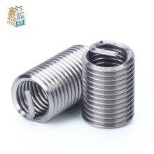 10 шт. M12* 1/* 1,25/* 1,5* 1D-3D проволочная Резьбовая вставка, M7-M11 втулка, 304 проволока из нержавеющей стали