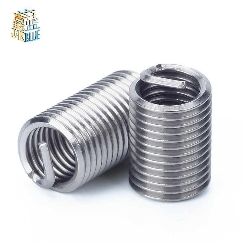 10pcs M12*1/*1.25/*1.5*1D-3D Wire Thread Insert , M7-M11 Screw Bushing , 304 stainless steel Wire Screw Sleeve Thread Repair m16 1 5 thread repair tool wire thread insert tool screw bushing tool install tool