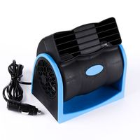 12V Leafless Air Conditioning Fan 360 Bladeless Fan in Car Vehicle Portable Adjustable Silent Air Cooler