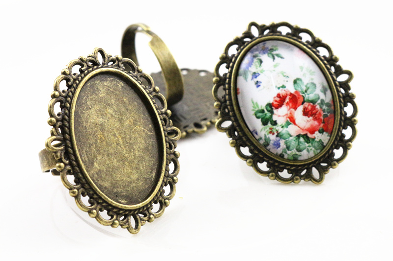 18x25mm 5pcs Antique Bronze Plated Brass Oval Adjustable Ring Settings Blank/Base,Fit 18x25mm Glass Cabochons J3-0118x25mm 5pcs Antique Bronze Plated Brass Oval Adjustable Ring Settings Blank/Base,Fit 18x25mm Glass Cabochons J3-01