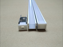 משלוח חינם מכירה לוהטת 2.5 M/PCS 120 8mlot LED אלומיניום שחול פרופיל עם כיסוי ומסתיים עבור 5050 5630 LED רצועת אורות