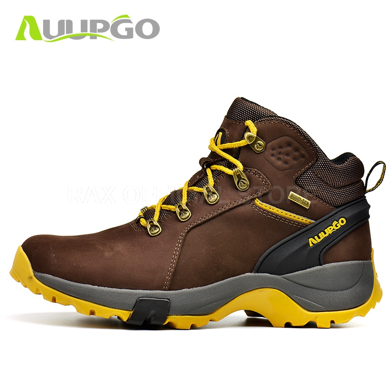 Waterproof Hiking Boots For Men Breathable Winter Hiking Shoes Men Lightweight Climbing Sport Shoes Hiking Mountain Boots Man mulinsen winter2017 tactical boots hiking shoes for men climbing mountain sport shoes man brand ankle boots men s sneakers