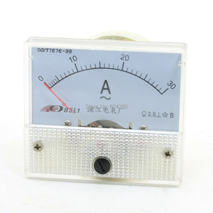 Pointer AC amperímetro AC 0-30A 1A 2A 3A 5A 10A 15A 20A 30A 50A Amperímetro Analógico Painel AMP Current Meter 85L1 calibre Amperímetro