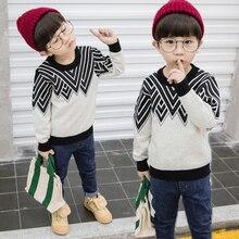 Свитер для мальчиков Susi & Rita, повседневный трикотажный пуловер с длинными рукавами на осень и зиму, детская Рождественская одежда, 2019