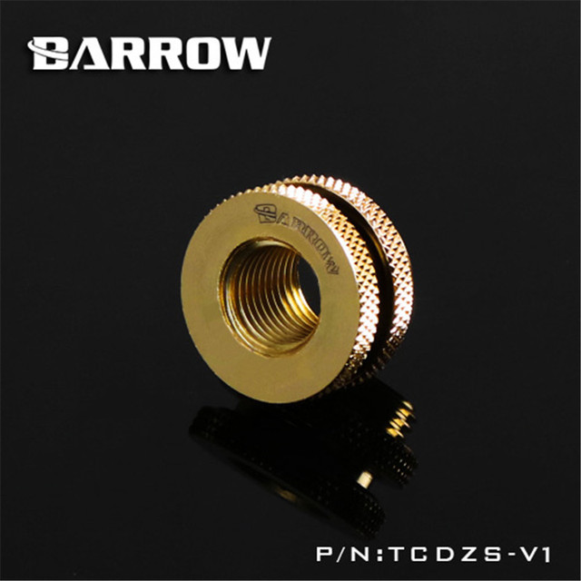 Barrow G1/4'' Pass-Through Fitting Fillport Cover Openings for the host to do water use 4 Colors TCDZS-V1