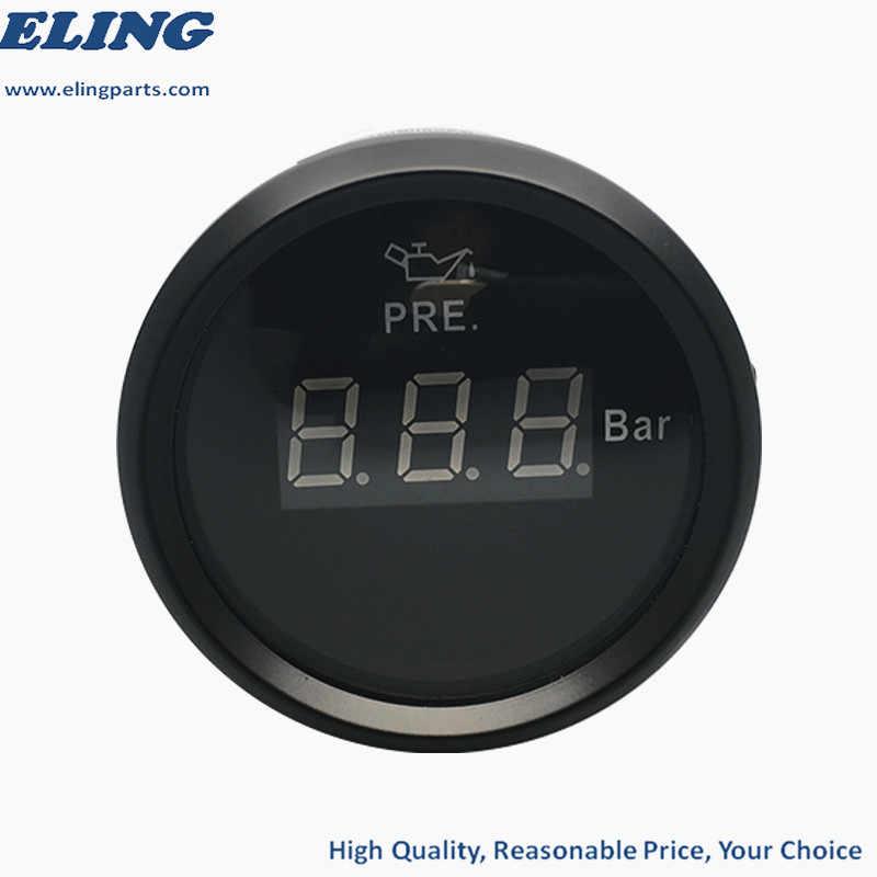 """جديد 2 """"شاشة إل سي دي مضادة للمياه الرقمية النفط قياس الضغط متر 0-5BAR لقارب سيارة الثنية 12 V 24 V مع الأحمر الخلفية"""