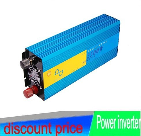 2500W 5000W peak DC 12V to AC 220/230/240V Off Grid Pure Sine wave Solar inverter 2500 watt power inverter Digital Display peak power 5000w inverter 2500w pure sine wave digital display inverter 12v 24v dc to 110v 220v ac for solar