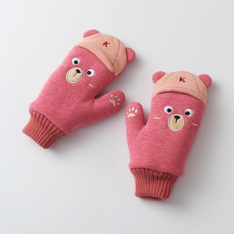 Jungen Kleidung Mutter & Kinder Winter Handschuhe Kinder Kleine Prinzessin Kinder Handschuhe Weibliche Winter Warm Plus Samt Verdickung Handgelenk Wärmer C1939