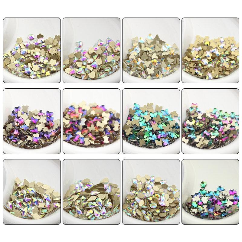20pcs/set Nail Rhinestone Variety of shapes Colorful Stones For 3D Nails Decoration 20pcs set nail rhinestone variety of shapes colorful stones for 3d nails decoration