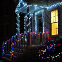 10-50M LED String Lights Outdoor Street Light EU Plug Holida