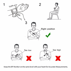 Image 5 - RZ Kỹ Thuật Số Áp Cổ Tay PulseHeart Đánh Đồng Hồ Đo Nhịp Thiết Bị Thiết Bị Y Tế Tonometer BP Mini Máy Đo Huyết Áp