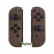 עץ גרגרים רך מגע בקר דיור עם כפתורי סט מלא DIY החלפת Shell Case עבור Nintendo מתג שמחה קון  CS201