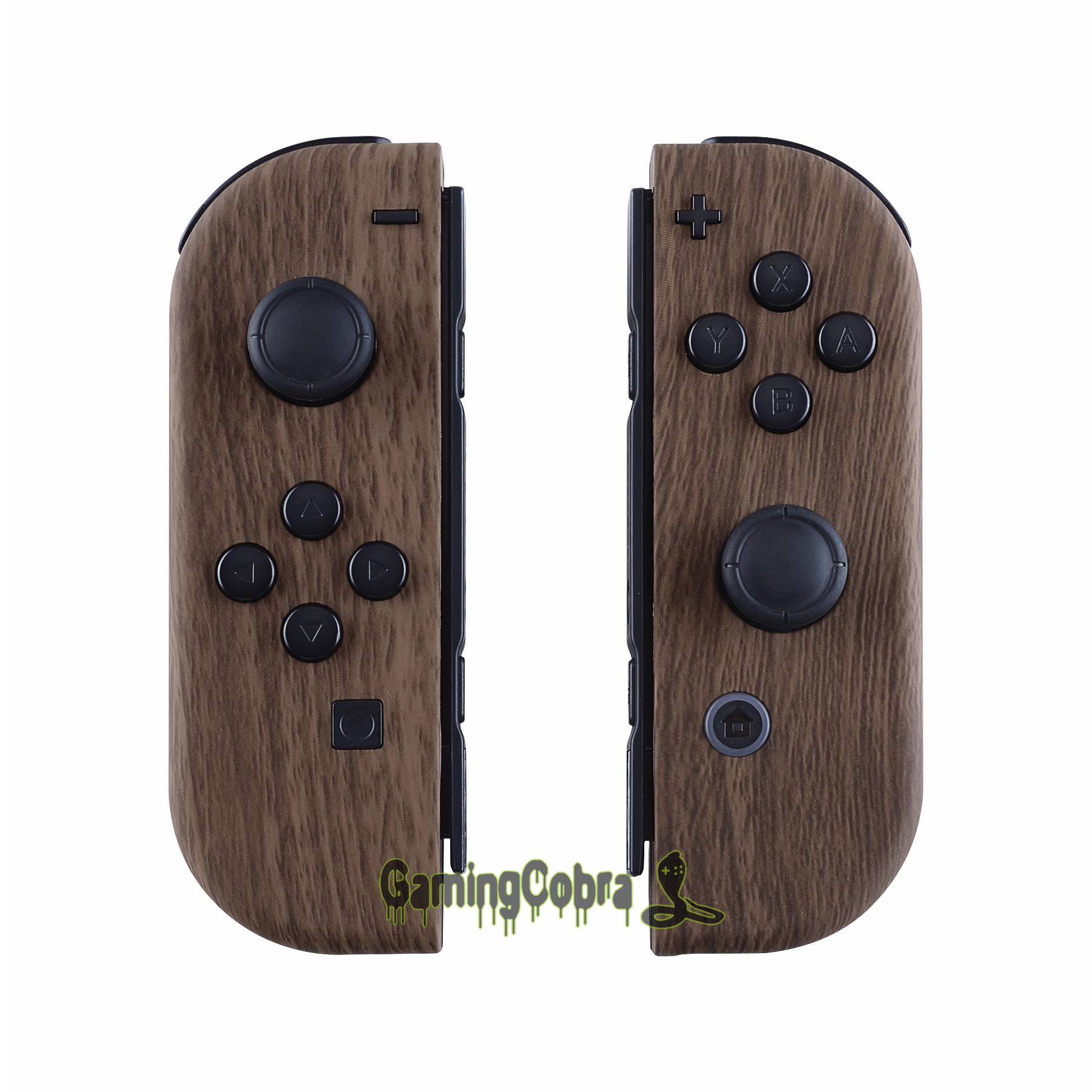 Wood Grain Soft Touch Controller Housing With Full Set Buttons DIY Replacement Shell Case For Nintendo Switch Joy-Con - CS201
