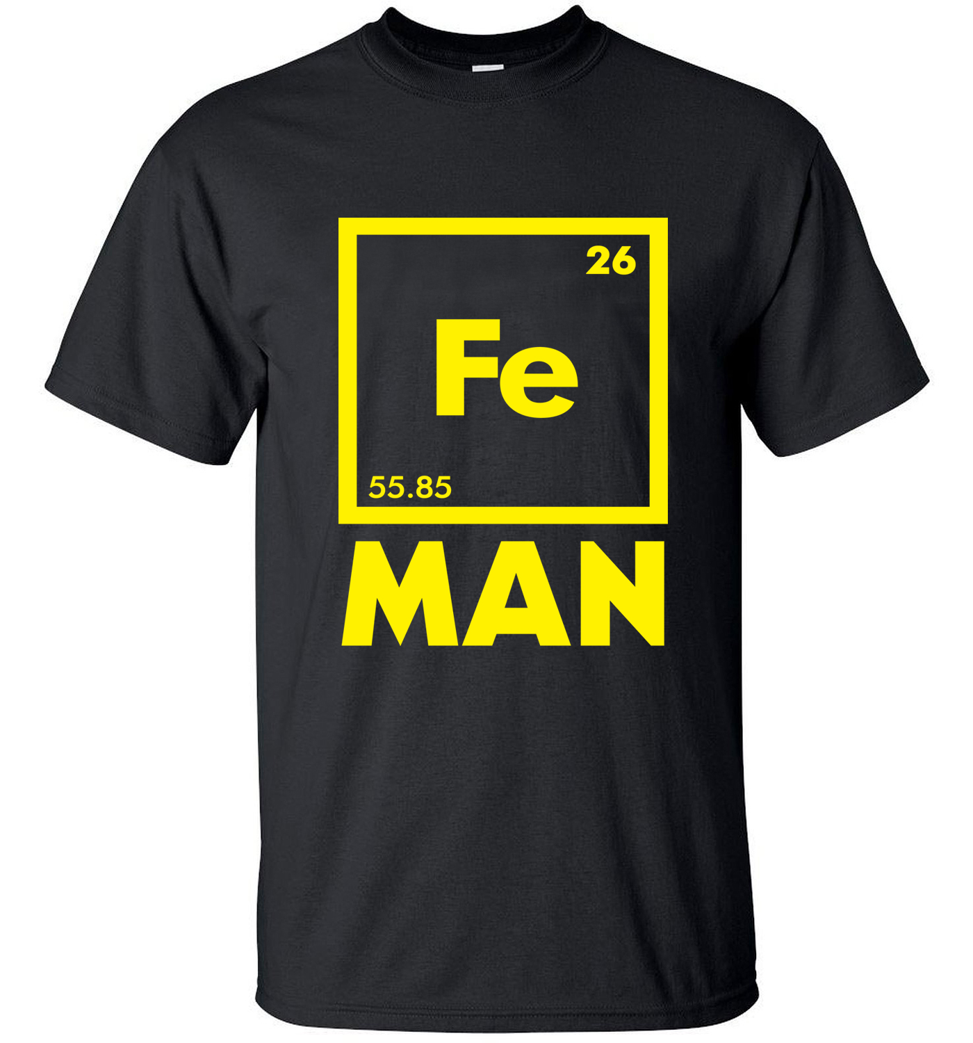 adult men t-shirts 2019 new style summer Fe Iron science shirt 100% cotton high quality short sleeve o-neck chemical tee shirts