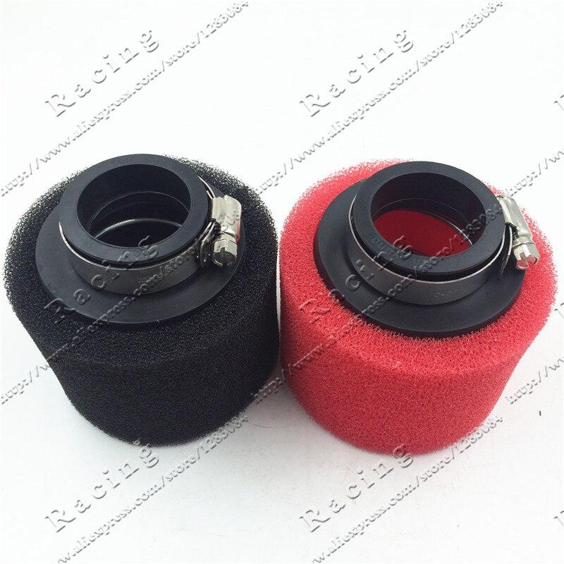Прямой воздушный фильтр из пены 38 мм, 42 мм, 48 мм, 58 мм, губка, очиститель, 50cc мопед, скутер CG125 150cc, Байк, мотоциклетный